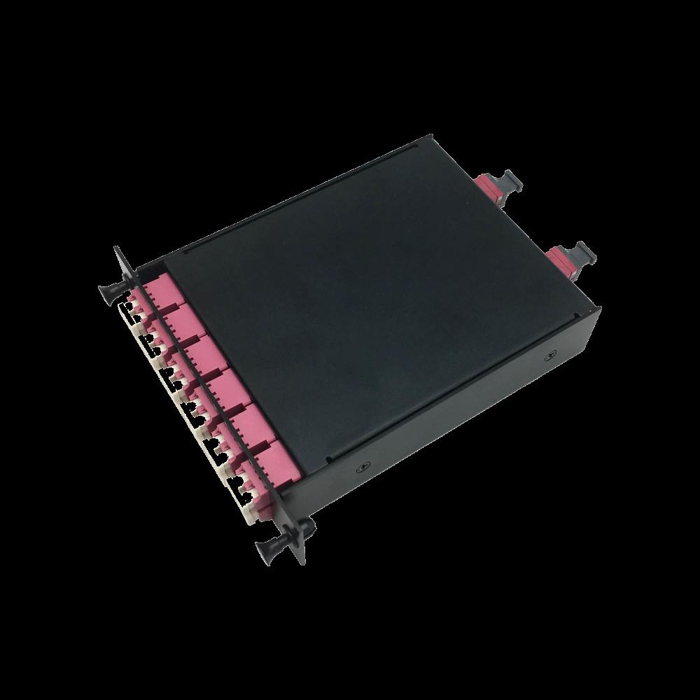 2x MPO/MTP to 12x Duplex LC Plug-in Cassette
